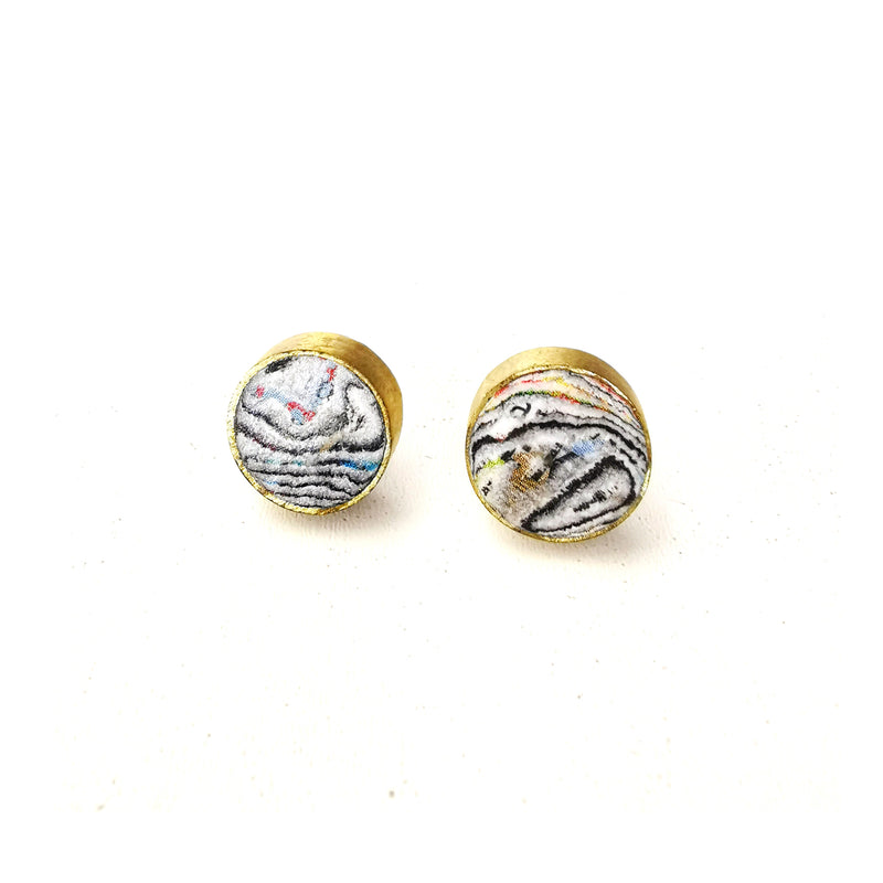 Paper Pearl Studs
