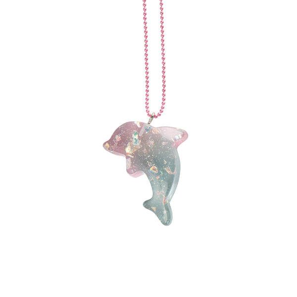 Pink Pastel Dolphin Necklace - Kids - Pop Cutie - Jewellery - Arlette Gold