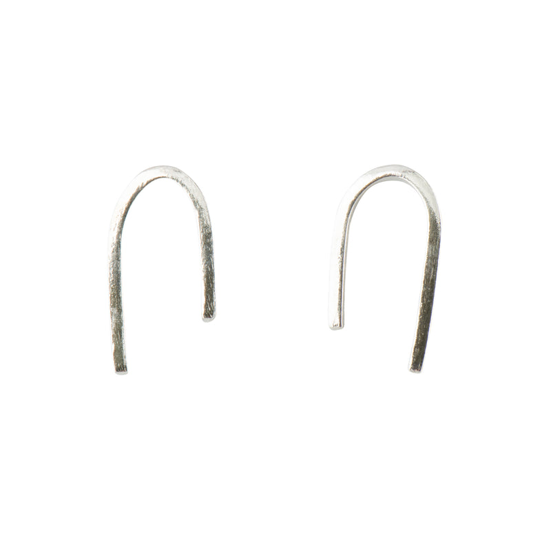 Silver Asymmetric Arc Earrings - Earrings - Fawn and Rose - Jewellery - Arlette Gold