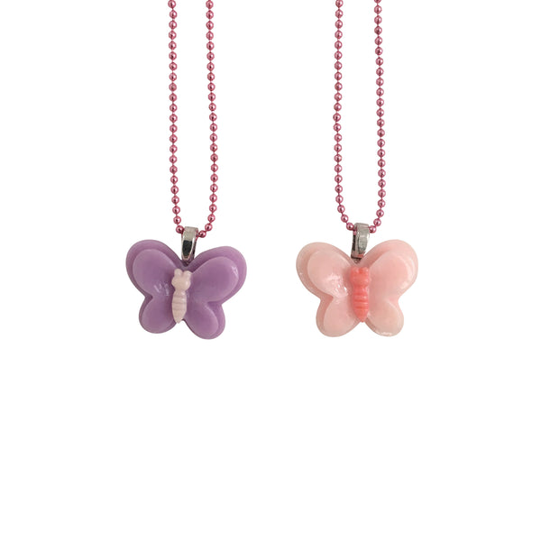 BFF Butterfly Necklace Pink Purple - Kids - Pop Cutie - Jewellery - Arlette Gold