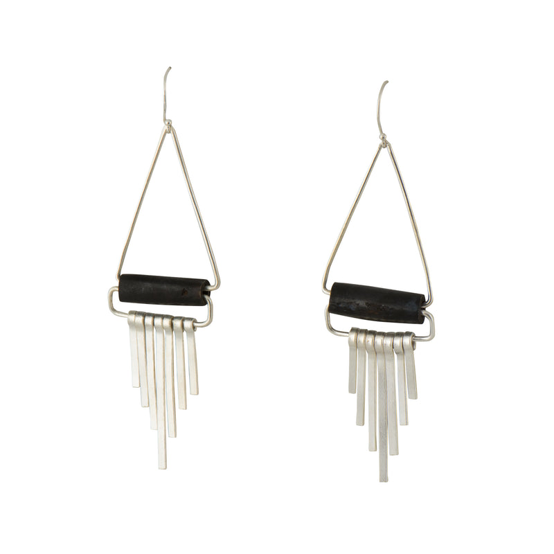 Silver Mod Fringe Earrings - Earrings - MADE - Jewellery - Arlette Gold