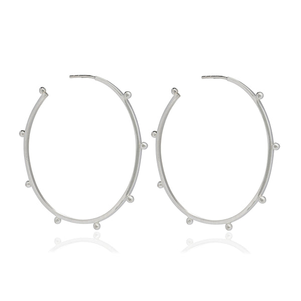 Silver Large Punk Hoop Earrings - Earrings - Rachel Jackson - Jewellery - Arlette Gold