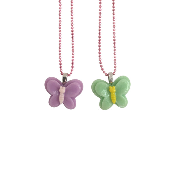 BFF Butterfly Necklace Green Purple - Kids - Pop Cutie - Jewellery - Arlette Gold