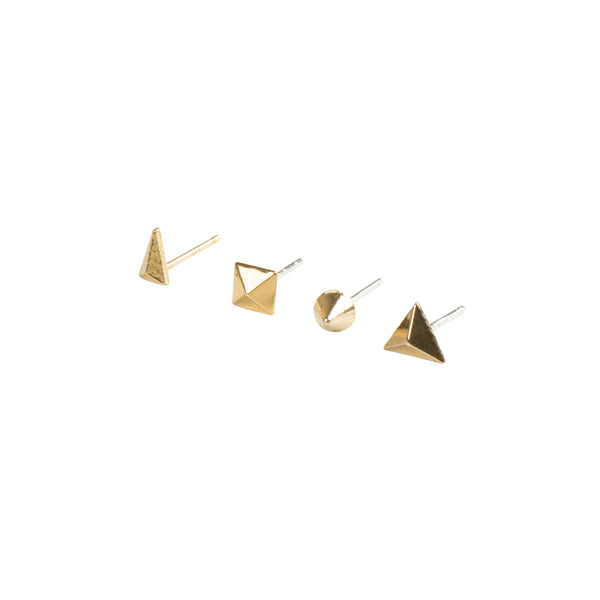 Gold Remix Earring Set