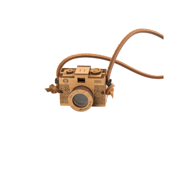 3D Wooden Camera Necklace - Kids - Brainbow - Jewellery - Arlette Gold