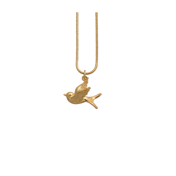 Gold Swallow Necklace - Necklace - Roz Buehrlen - Jewellery - Arlette Gold
