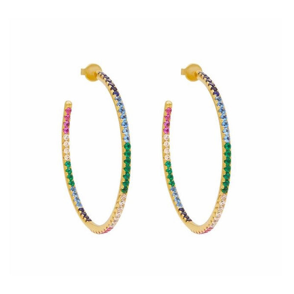 Gold XL Rainbow Hoops - Earrings - Laviandbelle - Jewellery - Arlette Gold
