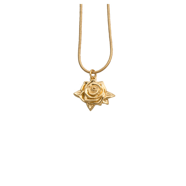 Gold Rose Necklace - Necklace - Roz Buehrlen - Jewellery - Arlette Gold