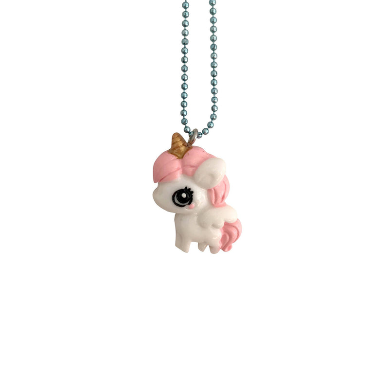 Cute Unicorn Necklace Pink Mane - Kids - Pop Cutie - Jewellery - Arlette Gold