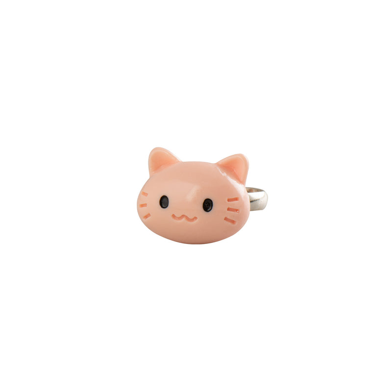 Peach Colour Cat Ring - Kids - Pop Cutie - Jewellery - Arlette Gold