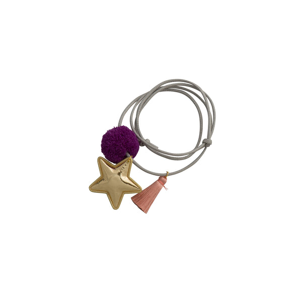 Pom Pom Tassel Star Necklace - Kids - Zana Zelephant - Jewellery - Arlette Gold