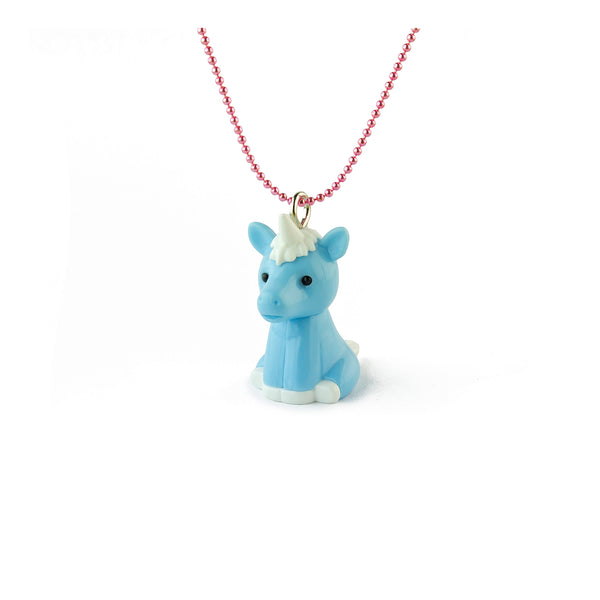 Blue Iwako Unicorn Necklace - Kids - Pop Cutie - Jewellery - Arlette Gold
