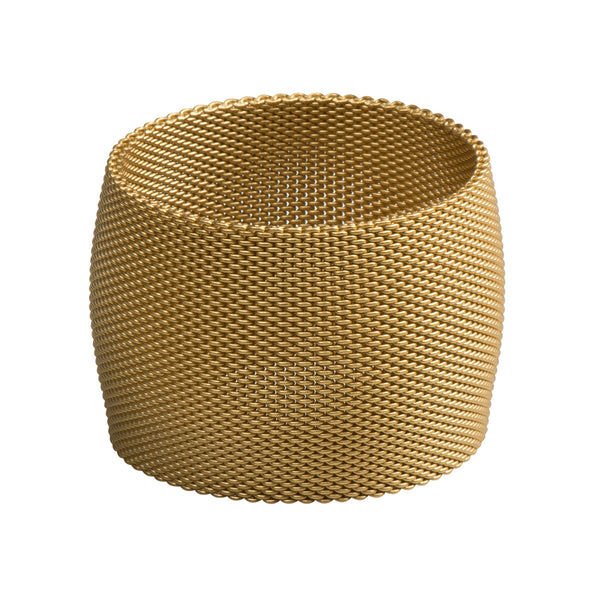 "2"" Wide Dome Mesh Bangle - Antique Gold - Bracelet - Sarah Cavender - Jewellery - Arlette Gold"
