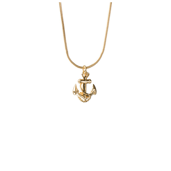 Gold Anchor Necklace - Necklace - Roz Buehrlen - Jewellery - Arlette Gold