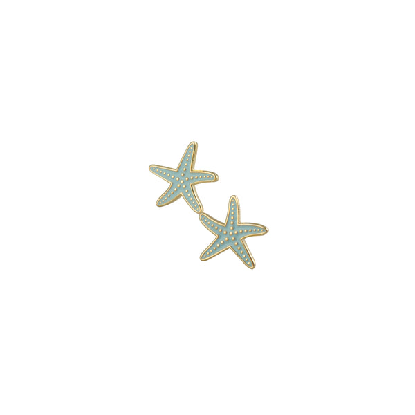 Blue Starfish Earrings - Kids - Acorn and Will - Jewellery - Arlette Gold