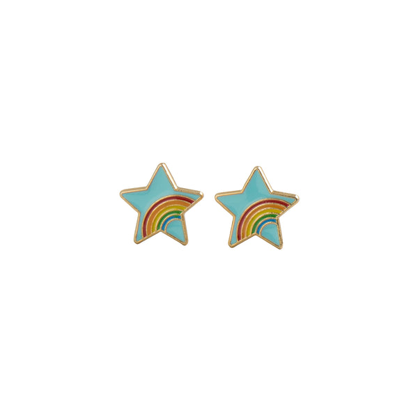 Rainbow Star Earrings - Kids - Acorn and Will - Jewellery - Arlette Gold