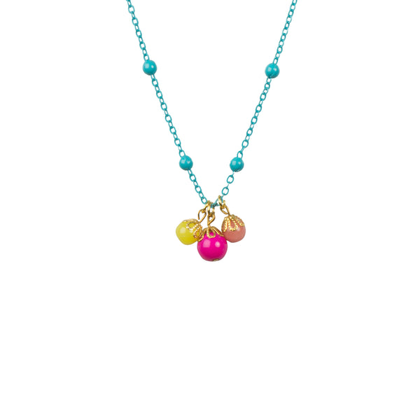 Aqua and Pink Beaded Necklace - Kids - Wild Juniper - Jewellery - Arlette Gold