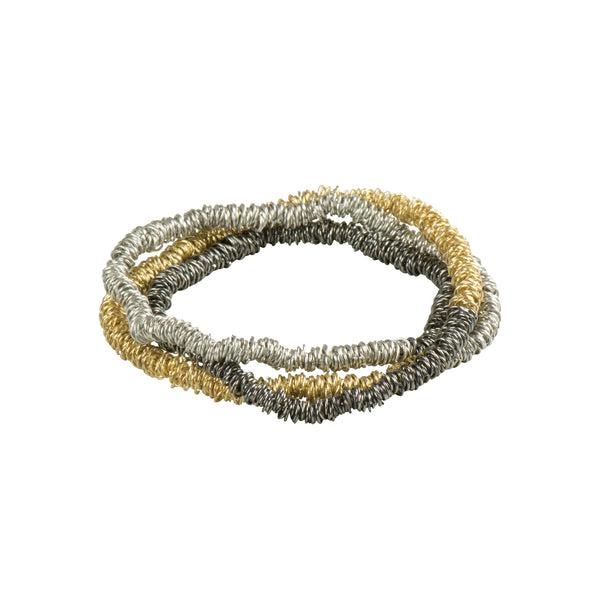 Metallic Strip Bracelet & Necklace - Bracelet - WorldFinds - Jewellery - Arlette Gold