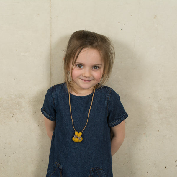 Miffy Bunny Rabbit Bow Necklace - Kids - Zana Zelephant - Jewellery - Arlette Gold