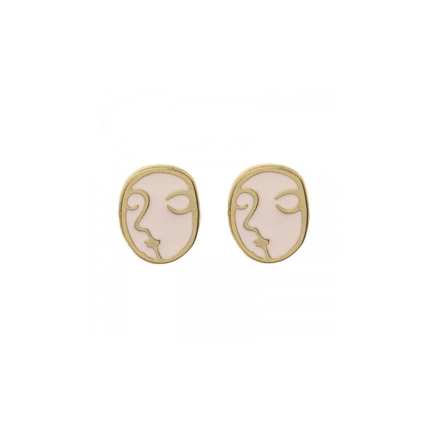 Abstract Face Earrings - Kids - Acorn and Will - Jewellery - Arlette Gold