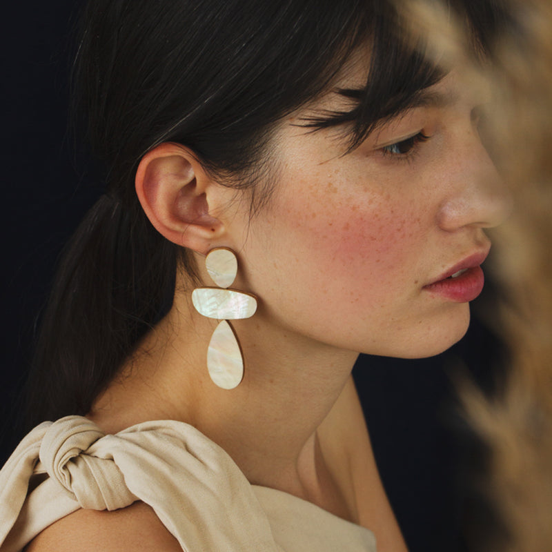 Ana Earrings in Mother of Pearl