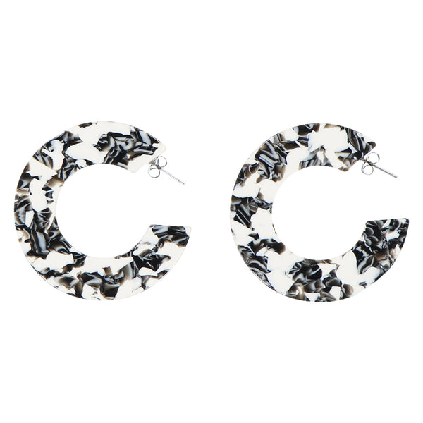 Ananda Earrings - Berlin Black White