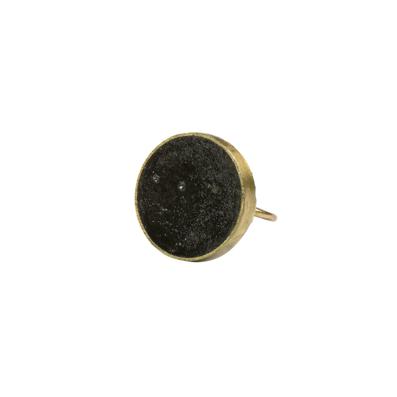 Black Pulp Ring Round - Ring - Quazi Design - Jewellery - Arlette Gold