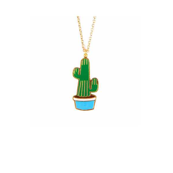 Pauline Cactus Necklace - Kids - Acorn and Will - Jewellery - Arlette Gold