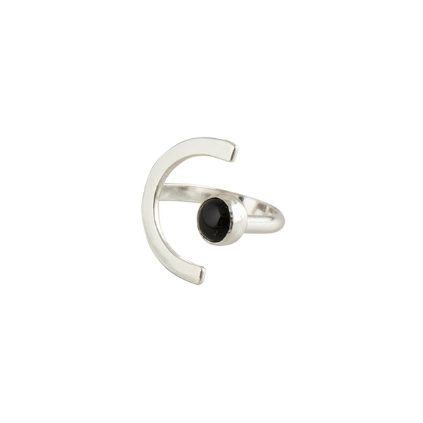 Deco Eco Silver & Onyx Ring - Ring - Lima Lima - Jewellery - Arlette Gold
