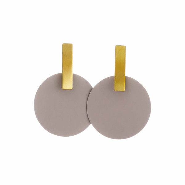 Monocycle Small Earrings Fog
