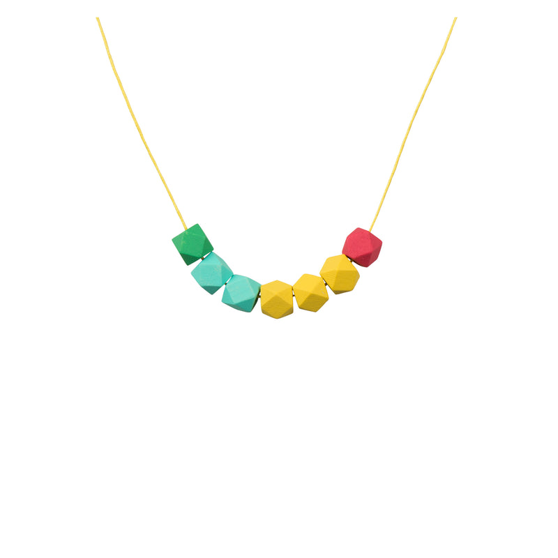 Geometric Bead Necklace - Primary - Kids - LiKeGjewelry - Jewellery - Arlette Gold