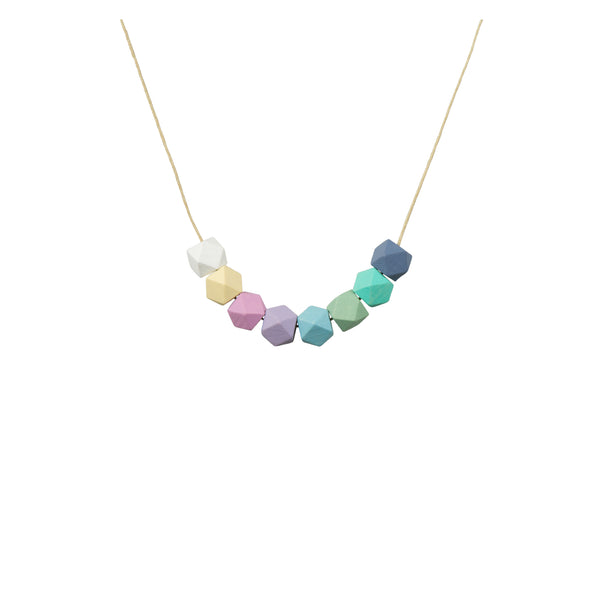 Geometric Bead Necklace - Pastel Mix - Kids - LiKeGjewelry - Jewellery - Arlette Gold
