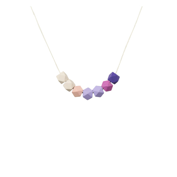 Geometric Bead Necklace - Pastel Purple - Kids - LiKeGjewelry - Jewellery - Arlette Gold
