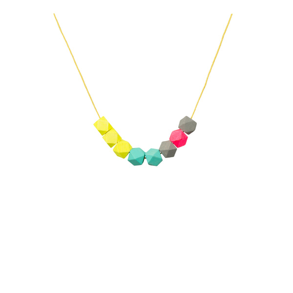 Copy of Geometric Bead Necklace - Neon - Kids - LiKeGjewelry - Jewellery - Arlette Gold