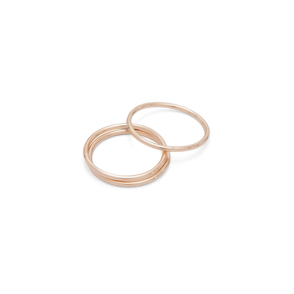 Gold Thin Stacking Rings - Ring - A Weathered Penny - Jewellery - Arlette Gold