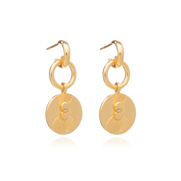 Gold Luminary Statement Loop Earrings