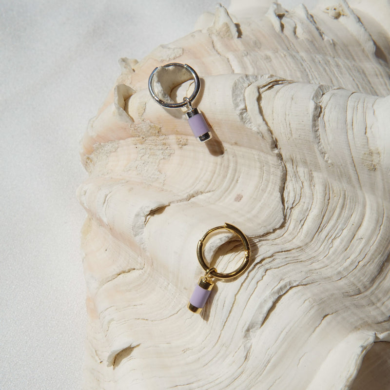 Gold Lilac Dream Earring