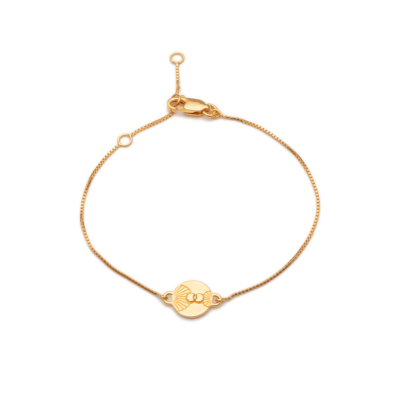 Gold Luminary Art Coin Bracelet