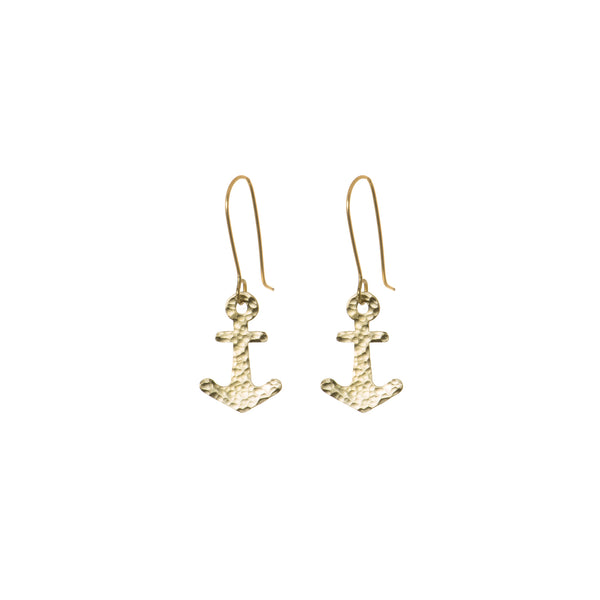 Coastal Anchor Earrings - Earrings - Just Trade - Jewellery - Arlette Gold