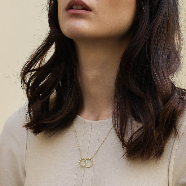 Gold Hera Interlock Necklace - Necklace - A Weathered Penny - Jewellery - Arlette Gold