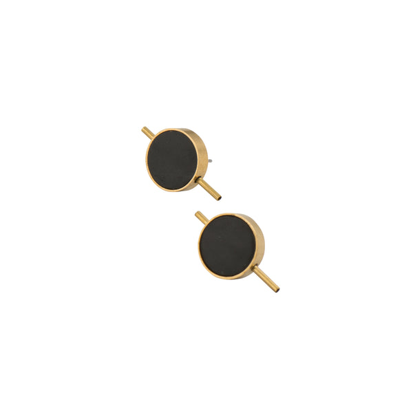Black Latitude Earrings - Earrings - Lia B - Jewellery - Arlette Gold