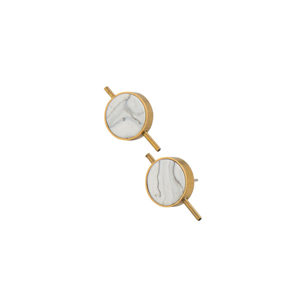 Marble Latitude Earrings - Earrings - Lia B - Jewellery - Arlette Gold
