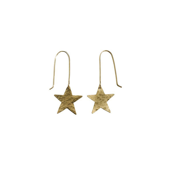 Gold Plated Star Earrings - Earrings - Just Trade - Jewellery - Arlette Gold