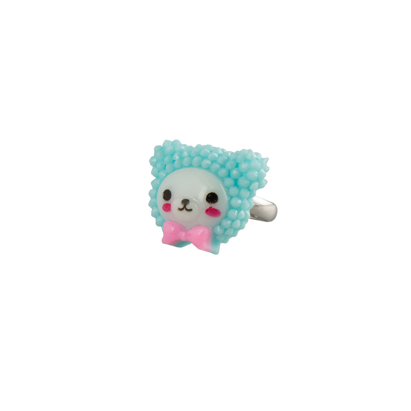Turquiose Kawaii Teddy Ring - Kids - Pop Cutie - Jewellery - Arlette Gold