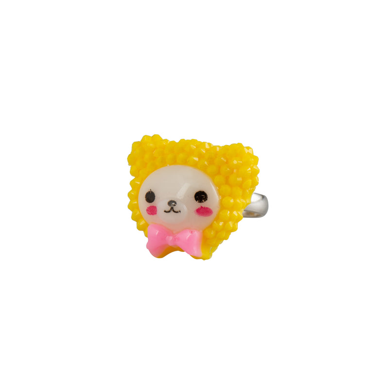 Yellow Kawaii Teddy Ring - Kids - Pop Cutie - Jewellery - Arlette Gold
