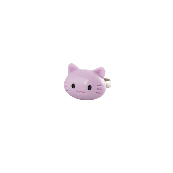 Purple Colour Cat Ring - Kids - Pop Cutie - Jewellery - Arlette Gold