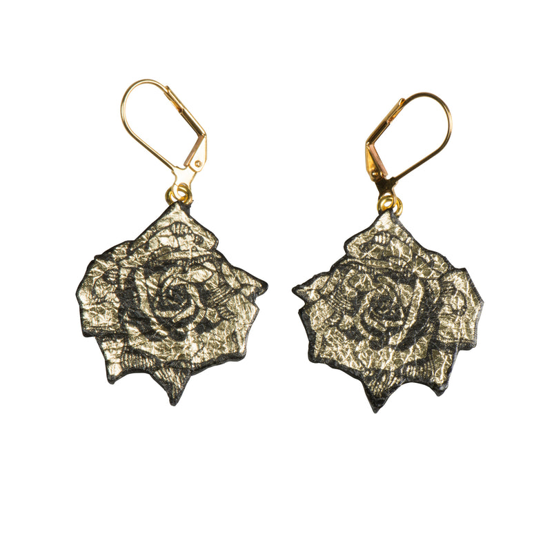 Gold Small Roses Earrings - Earrings - Rosita Bonita - Jewellery - Arlette Gold