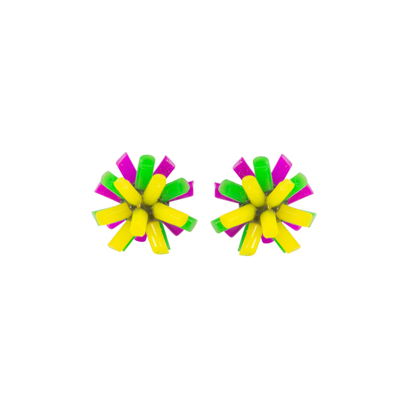 Silicone Earrings - Neon Colourway D
