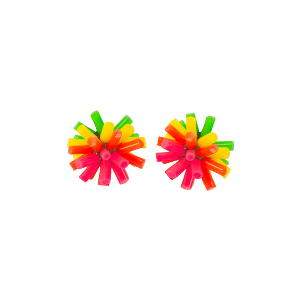 Silicone Earrings - Neon Colourway B