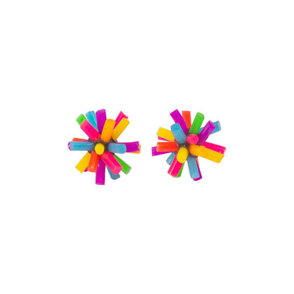 Silicone Earrings - Neon Colourway A